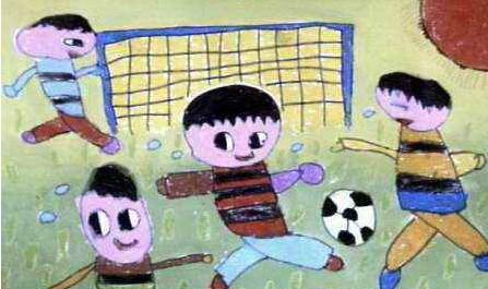 踢足球作文100字_小学生一年级作文