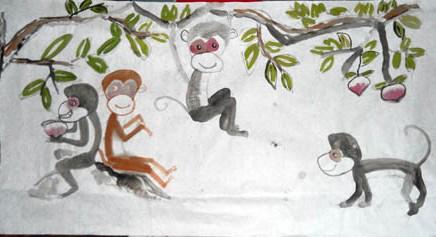 一年级看图写话作文:猴子