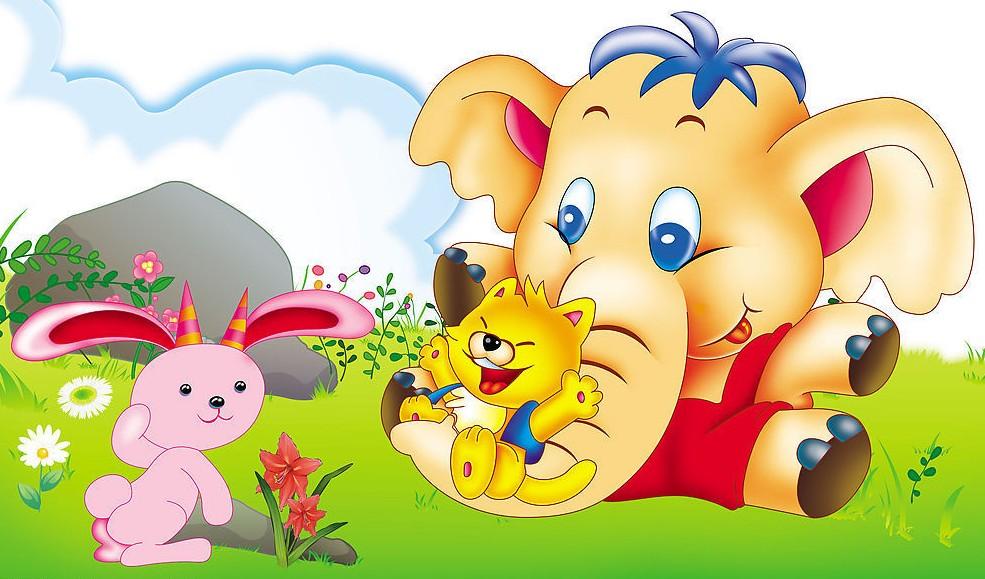 动物园里有只可爱的大象